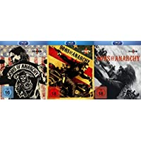 SONS OF ANARCHY Staffel 1 2 3 UNCUT Biker Collection 9 Blu-Ray Edition