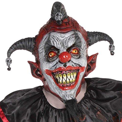 Amscan Herren Halloween Killer Jester Maske Kostüm (Maske Jester Kostüm)