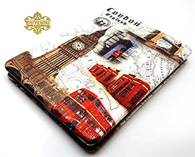 Classic London Souvenir Taschenspiegel Collectible British Souvenir. Speicher/MEMORIA. Distressed. Eine unvergessliche London, England Souvenir. Miroir/Spiegel/Specchio/Espejo. Union Jack London Eye Tower Bridge Big Ben London Bus Telephone Post Box etc.