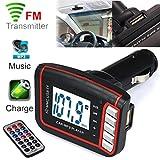 LCD Auto FM Transmitter Wireless MP3 / MP4 Player Auto Freisprecheinrichtung FM Transmitter SD / MMC Karte mit Fernbedienung Geeignet für Android / iPhone