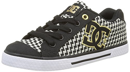 DC Shoes, Chelsea TX Se, Zapatillas, Mujer, Negro (Black/Gold), 40