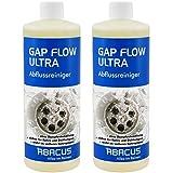 GAP FLOW ULTRA SET 2x 1000 ml (7052) --- Abflussreiniger Rohrfrei Abfluss Verstopfung Reiniger Rohre Abwasser Abwasserrohre Abflussrohre Rohrverstopfungsmittel Haarlöser flüssig -- ABACUS