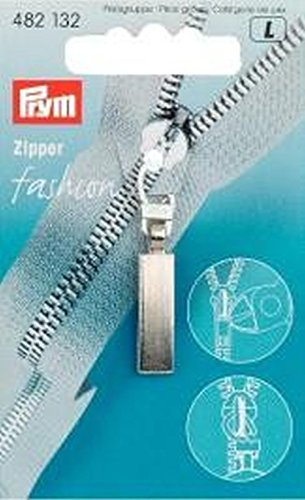 Fashion-Zipper Classic mattsilber -