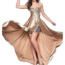 finest selection 2e10c 5c8a0 abiti da cerimonia donna lunghi eleganti - Oro - Amazon.it