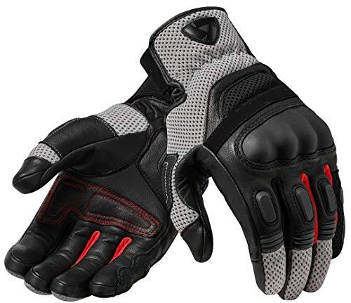 Motorradhandschuhe Schwarz-graue Rennhandschuhe aus echtem Leder Motorrad-Kurzhandschuhe Gray S