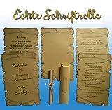 30 Schriftrollen + Kissenschachtel, Mittelalter Pergamentpapier, Für Urkunden, Gutschein, Einladung Hochzeitskarten, Geburtstag