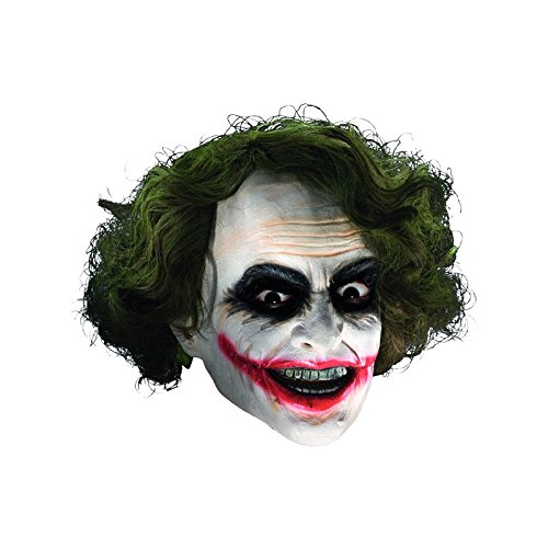Batman - Joker Maske mit Haaren für (Superman Kostüme Latex)
