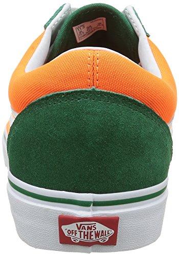 Vans Unisex-Erwachsene Old Skool Reissue Sneakers Mehrfarbig (Brite verdant green/neon orange)