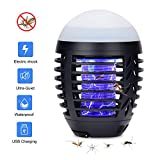 Hisome Bug Zapper Light, Electronic Mosquito Killer Lamp UV Insect Killer Portable 2