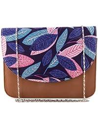 ShopMantra Women Multi-Color Leaf Printed Sling Bag - B078N8D185