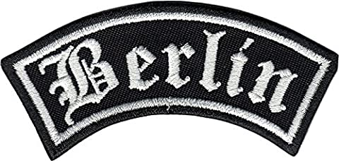 BERLIN Biker Rider Rankpatch Rocker Motorcycleclub MC Iron on Patch Badge
