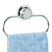Tatkraft Philip Vacuum Screw HARD Towel Holder Ring 22X10 cm Anti Rust 4-Layered Chromed Steel