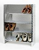 Schuhregal ALU, 88 x 60 x 26 cm, 12 Paar, 4 Böden, glänzend