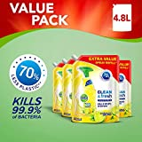 Dettol Refill Clean and Fresh Multipurpose Cleaning Spray Lemon, Pack of 4 x