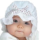 Baseball Kappe fürs Kleinkind,OYSOHE Neueste Neugeborenes Baby Boy Sommer Sun Polka Dots Beanie Hut Mütze 2-12 Monate (Einheitsgröße, Weiß)