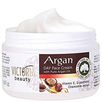 Day Face Cream with 100% Pure Moroccan Argan Oil - Anti-Wrinkle, Soothing Moisturizer for All Skin Types 50ml