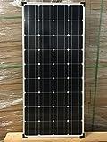 enjoysolar, módulo solar 100W 12V, panel solar ideal para caravana, casas de verano, bote