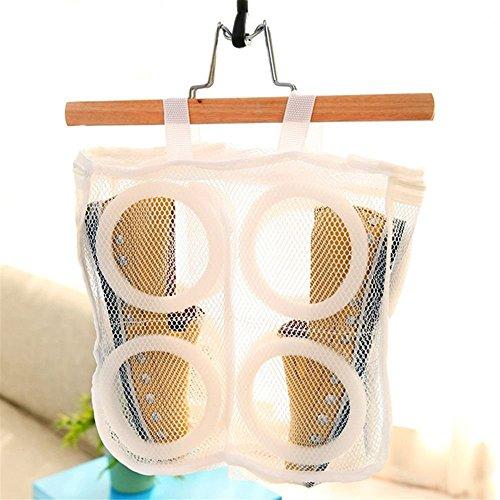 GOOTRADES 3 Stk Schuhe Maschenwäsche Waschbeutel plus 1 Freie Schuhe Trockengestell (Trockengestell Zufällige Farbe) - 3