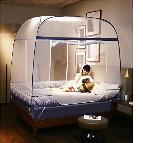 HEXbaby Tragbares Pop-Up-Mückennetz für Bett Reisen mit Boden für Erwachsene, Betthimmel, Reise Insektenschutz, Schlafzimmer Moskitonetz 195 * 120 * 155cm -