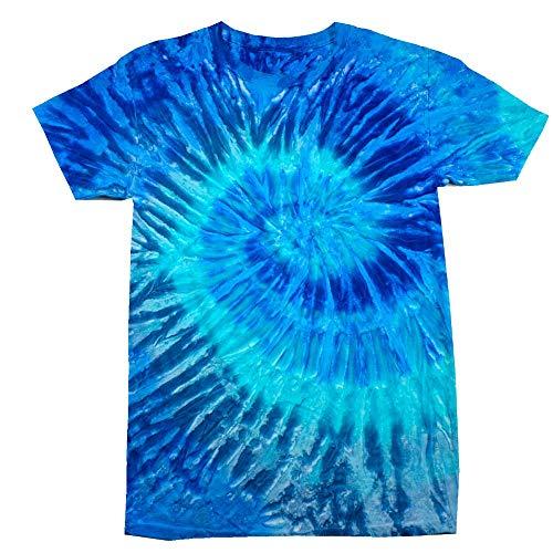 Colortone Unisex Batik T-Shirt 'Swirl'/Blue Jerry, XXL -