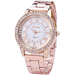 HARRYSTORE Women's Watches Crystal Rhinestone Stainless Steel Analog Quartz Wrist Watch