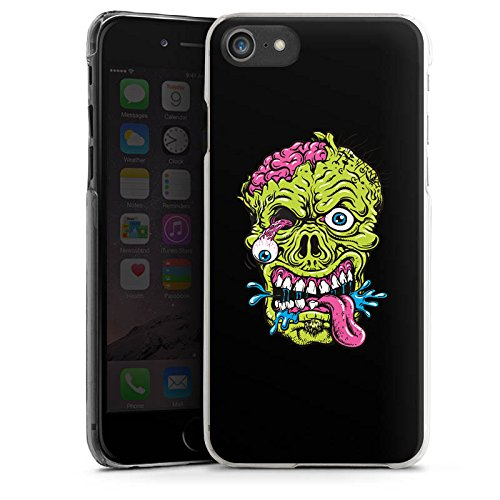 Apple iPhone X Silikon Hülle Case Schutzhülle Zombie Halloween Gruselig Hard Case transparent