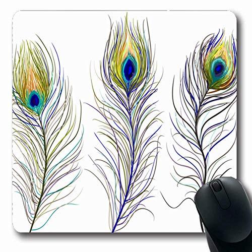 Luancrop Mousepad für Computer Notebook Hochzeit Blue Tail Peacock Feathers Bird Künstlerische Bright Design Art rutschfeste Gaming Mouse Pad -