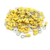 200 Stück RV5. 5-6 AWG 12-10 gelb Sleeve Pre Isolierte Ringöse...