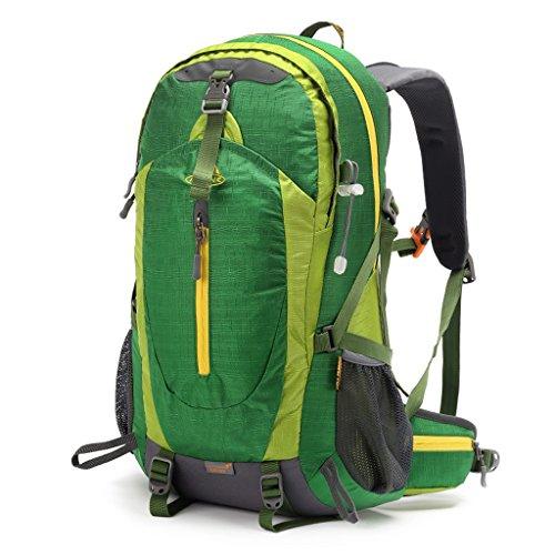 AMOS Borsa per alpinismo all'aperto sport spalle zaino uomini e donne a piedi corsa viaggio a cavallo all'aperto zaino 38L ( Colore : Blu zaffiro ) Verde