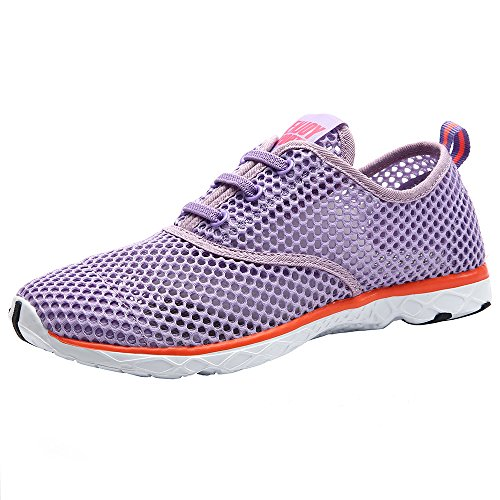 Aleader Damen Schnell trockende Aqua Wasser Schuhe Violett