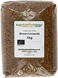 Buy Whole Foods Organic Linseed Brown, 1 Kg