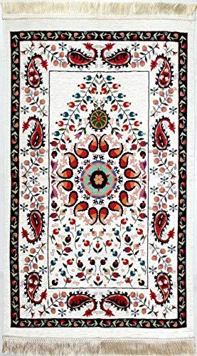 Traditioneller Kilim Teppich Kelim Läufer Seccade 004(kirbe) ca. 69x125cm/ hochwertiges festes formbeständiges Material/ orientalisches feines Web-Muster (dünn gewebt - kein Druckmuster)/ Baumwoll-Mix - Islam-teppich