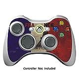 Xbox 360 Controller Designfolie Sticker - Vinyl Aufkleber Schutzfolie Skin für Xbox 360 Controller - French Flag