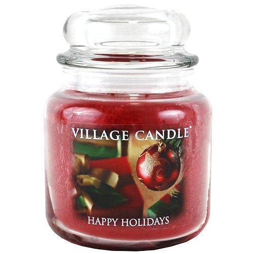 Village Candle-1, 899 g-Candela Premium in barattolo, con motivo natalizio, motivo: vacanze