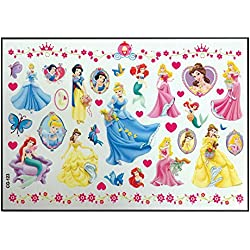PARTY PROPZ PRINCESS THEME TEMPORARY TATTOO/ BODY ART TATTOO