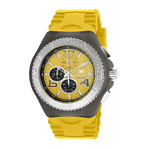 TECHNOMARINE MEN'S CRUISE JELLYFISH 46MM YELLOW SWISS QUARTZ WATCH TM-115112