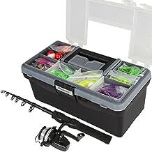 Jago - ANGS01 - Kit de pesca - Con 130 piezas y maletín