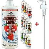C.P. Sports Mineral Light Getränke Sirup Electrolyte Konzentrat 1 Liter Granatapfel inkl. DOSIERSPENDER
