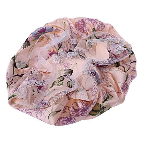 oukerst Seidenspitze Nachtschlafmütze Haar Hut Kopfbedeckung Breites Band Elastisch Für Frauen