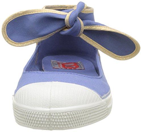 Bensimon Damen Tennis Flo Shinypiping Flach Blau (Denim)