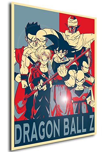Instabuy Poster Dragon Ball Z Propaganda Personajes - A3 (42x30 cm)