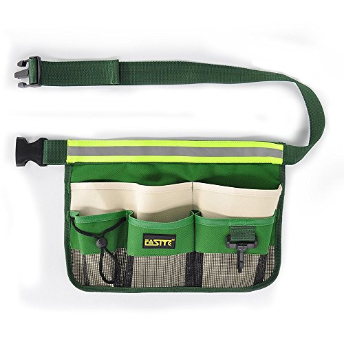 Preisvergleich Produktbild FASITE 7 Fächern Taschen Werkzeugtasche Hüfttasche Lagerung Beutel Pack für Wartungstechniker Tragetaschen Grün