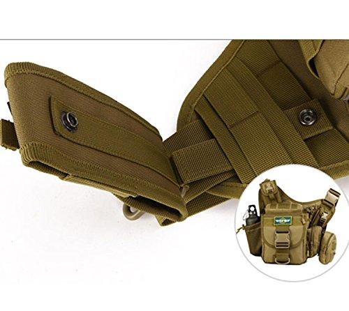 Protector Plus Sacchetto della sella della borsa della macchina fotografica di SLR del sacchetto della borsa di studio esterna della borsa della spalla Messenger, sacchetto di sella multiplo, pacchett jungle