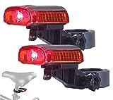 PEARL Fahrradbeleuchtung: 2er-Set LED-Fahrrad-Rücklichter, Akku, USB-Ladekabel, StVZO-Zug, IPX4 (Fahrrad Rückleuchte)