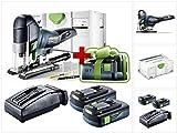 Jetzt mit GRATIS AKKU: Festool PSC 420 EB Li-Basic Akku Pendelstichsäge CARVEX (574713) im Systainer + 2 x BP 18 Li 3,1 Ah Akkupack + TCL 6 Schnell Ladegerät