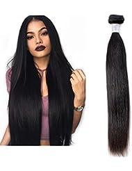 Mila 10-28 Naturel Tissage Bresilienne Lisse Meches Vierge 8A 100gram/pc 100% Humain Cheveux Straight Noir Hair...
