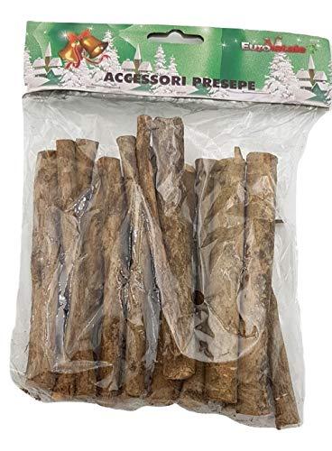 Piccoli monelli presepe accessori 15 tronchi legno per fuoco di 10 cm per decorazioni natalizie e allestimenti