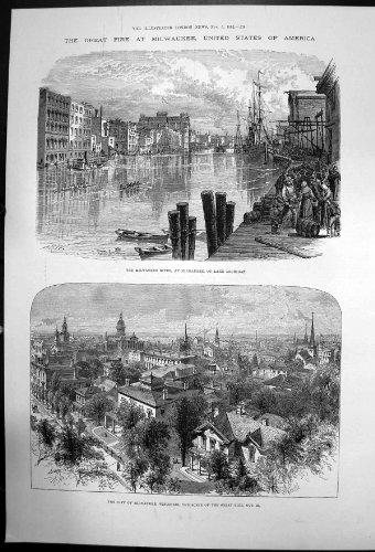fuoco-1892-di-lago-michigan-di-wisconsin-del-fiume-della-citta-di-milwaukee-grande