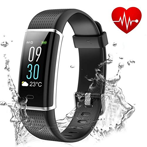 Showyoo Fitness Tracker, Color Screen Activity Tracker Heart Rate Monitor, IP68 Waterproof...