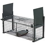 Moorland Safe 5006 Trampa para animales vivos - Ratas Conejos Gatos 50x18x18cm - 2 Entradas - Alambre